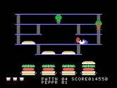 BurgerTime for TI-99/4A screenshot thumbnail - I've been surrounded and caught!