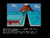 Adventures of Buckaroo Banzai: Across the Eighth Dimension, The for IBM PC/Compatibles screenshot thumbnail - Heading north...