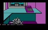 Adventures of Buckaroo Banzai: Across the Eighth Dimension, The for IBM PC/Compatibles screenshot thumbnail - Anything hidden under that pile of stuff on the floor?