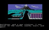 Adventures of Buckaroo Banzai: Across the Eighth Dimension, The for IBM PC/Compatibles screenshot thumbnail - Outside a town; which way to go?