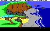 King's Quest III: To Heir is Human for IBM PC/Compatibles - Transformed into an eagle, carrying a large spider out to sea...