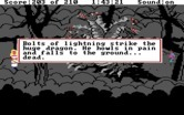 King's Quest III: To Heir is Human for IBM PC/Compatibles - Using a storm to attack a dragon...