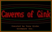 Caverns of Gink for IBM PC/Compatibles - Title screen.