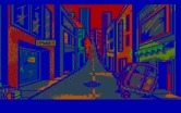 Manhunter 2: San Francisco for IBM PC/Compatibles - The streets of San Francisco following the orb invasion.
