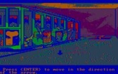 Manhunter 2: San Francisco for IBM PC/Compatibles - A trolley in a warehouse filled with bodies.