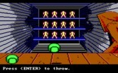 Manhunter: New York for IBM PC/Compatibles - Throw the baseball to knock things over.