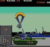 Rush'n Attack for Arcade screenshot thumbnail - Enemies parachute in from above...