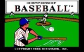Championship Baseball for IBM PC/Compatibles - Title screen.