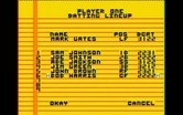 Championship Baseball for IBM PC/Compatibles - Creating the batting lineup.