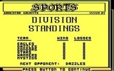 Championship Baseball for IBM PC/Compatibles - Here's the division standings so far...