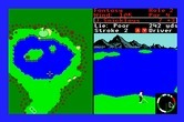 World Tour Golf for Apple IIgs screenshot thumbnail - The fantasy course included with the game can be tough!