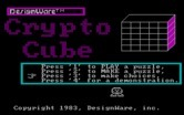 Crypto Cube for IBM PC/Compatibles screenshot thumbnail - Title screen.