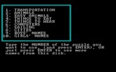 Crypto Cube for IBM PC/Compatibles screenshot thumbnail - Here's the categories...