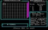 Crypto Cube for IBM PC/Compatibles screenshot thumbnail - Game start.