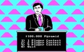 $100,000 Pyramid, The for IBM PC/Compatibles screenshot thumbnail - Setting options for a new game.