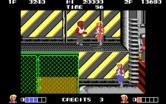Double Dragon for IBM PC/Compatibles - Incoming foe...you can jump and climb the scenery in this level.