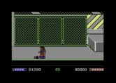 Double Dragon for Commodore 64 - Ouch, I've been knocked down...