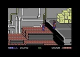 Double Dragon for Commodore 64 - Almost out of energy...be careful fighting this duo!