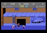 Double Dragon for Atari 7800 - Some opponents have weapons such as whips...