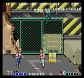 Double Dragon for Arcade - Don't get blown up by dynamite!