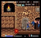 Double Dragon for Arcade - Knock out opponents, and avoid the spears!