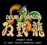 Double Dragon for Arcade - Title screen.