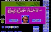 Jack Nicklaus' Unlimited Golf & Course Design for IBM PC/Compatibles - The course designer occasionally offers tips.