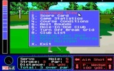 Jack Nicklaus' Unlimited Golf & Course Design for IBM PC/Compatibles - The in game menu.