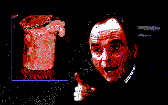 Ghostbusters II IBM PC/Compatibles Screenshot: The judge upsets some slime...