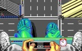 Ghostbusters II for IBM PC/Compatibles - Driving the statue.