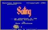 Sailing ...An Adventure in The Bermuda Triangle for IBM PC/Compatibles - Title screen.