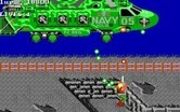 Super Contra for IBM PC/Compatibles screenshot thumbnail - Attacked by a large helicopter!
