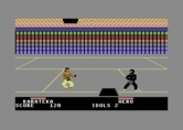 Ninja for Commodore 64 - Use the wholes in the floor and ceiling to jump between levels.