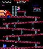 Donkey Kong for Arcade - Game start.