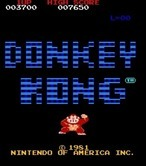 Donkey Kong for Arcade - Title screen (U.S. version)
