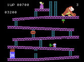 Donkey Kong for ColecoVision - You can use the hammer to smash barrels, but can't climb ladders at the same time.