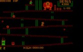 Donkey Kong for IBM PC/Compatibles - Climbing towards the top.