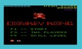 Donkey Kong for Commodore VIC-20 - Game options.