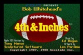 4th & Inches for Apple IIgs - Title screen.