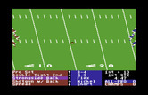 4th & Inches for Commodore 64 - Select the next play...
