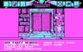 Wizardry: Bane of the Cosmic Forge for IBM PC/Compatibles - The main menu.