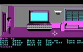Zak McKracken and the Alien Mindbenders for IBM PC/Compatibles - Zak's living room, complete with a giant T.V.