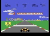 Pole Position II for Atari 7800 - This track has an amusement park in the background.