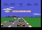 Pole Position II for Atari 7800 - Preparing to race!