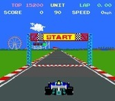 Pole Position II for Arcade - Game start.