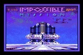 Impossible Mission II for Apple IIgs - Title screen.
