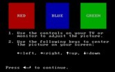 Volcanoes for IBM PC/Compatibles - The game starts with a color calibration screen.