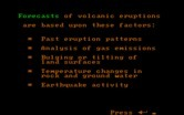 Volcanoes for IBM PC/Compatibles - Volcanic erruption forecasts.