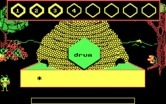 Bouncy Bee Learns Words for IBM PC/Compatibles screenshot thumbnail - Here's the word 'Drum'...