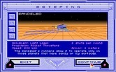 Stellar 7 for Amiga - Mission briefing...the sandsled.